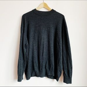charcoal wool high neck oversized (mens) sweater